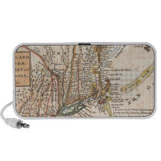 mapa viejo del vintage de Nueva York América iPhone Altavoces