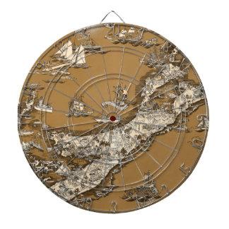 Mapa viejo del vintage del tono de la sepia de las