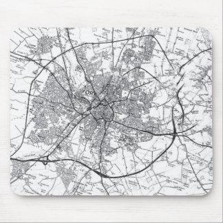Mapa viejo Mousepad de la ciudad de York