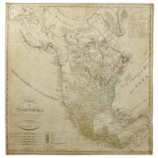Mapa viejo Norteamérica Servilleta