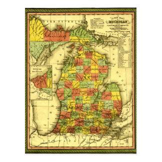 Mapa vivo 1853 de la lealtad verdadera MI de la Tarjeta Postal