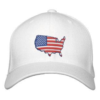 Mapa W de la bandera Gorras De Béisbol Bordadas