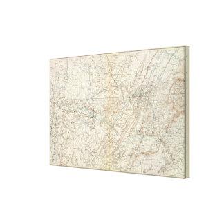 Mapa XIV de la GEN Impresión En Lienzo Estirada