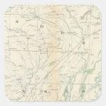 Mapa XVIII de la GEN Pegatina Cuadrada