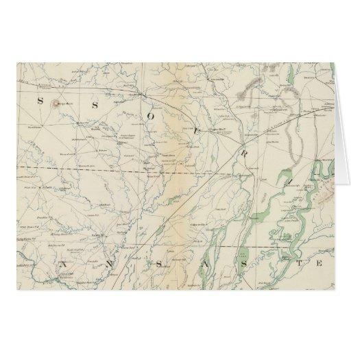 Mapa XVIII de la GEN Tarjeta De Felicitación