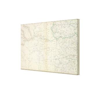 Mapa XXVI de la GEN Impresión En Lona