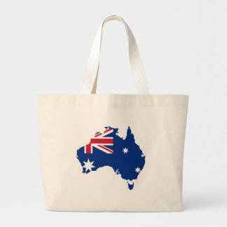 Mapa y bandera de Australia Bolsas Lienzo
