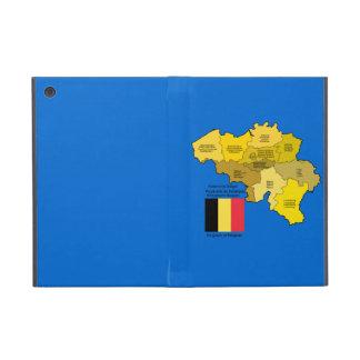 Mapa y bandera de Bélgica iPad Mini Carcasa
