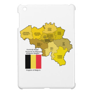Mapa y bandera de Bélgica