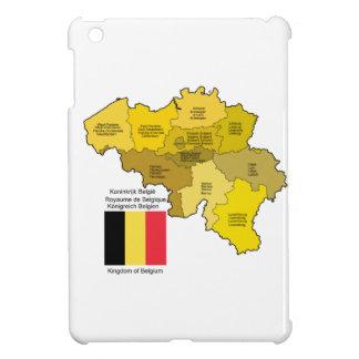 Mapa y bandera de Bélgica iPad Mini Coberturas