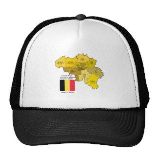 Mapa y bandera de Bélgica Gorra