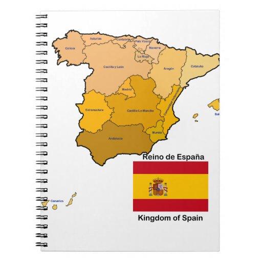 Mapa y bandera de España Libreta