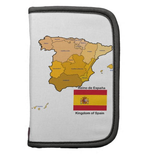 Mapa y bandera de España Planificadores