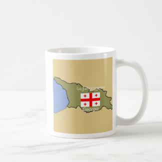 Mapa y bandera de Georgia Taza Clásica