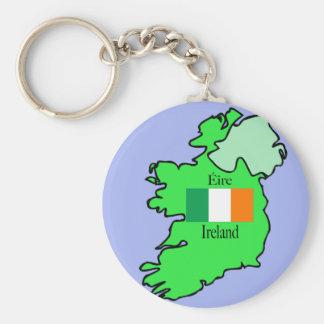Mapa y bandera de Irlanda Llaveros Personalizados