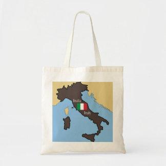 Mapa y bandera de Italia Bolsa Tela Barata