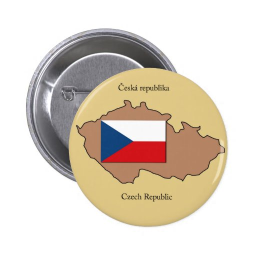 Mapa y bandera de la República Checa Pin