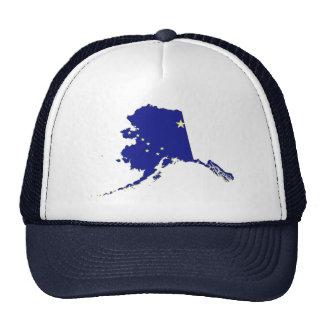 Mapa y bandera del estado de Alaska Gorras De Camionero
