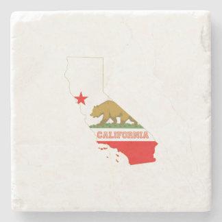 Mapa y bandera del estado de California Posavasos De Piedra