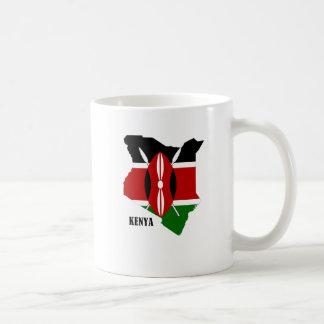 Mapa y bandera del Kenyan Tazas