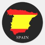 Mapa y bandera - pegatina de España