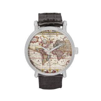 Mapa y caracteres Claes Janszoon Visscher del Reloj