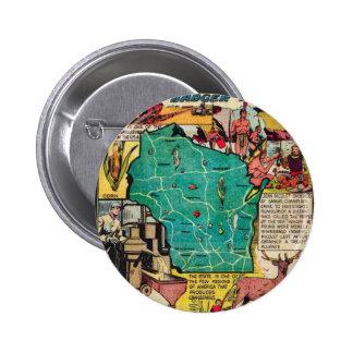 Mapa y hechos de Wisconsin Pins
