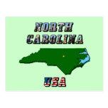 Mapa y texto de Carolina del Norte Postal