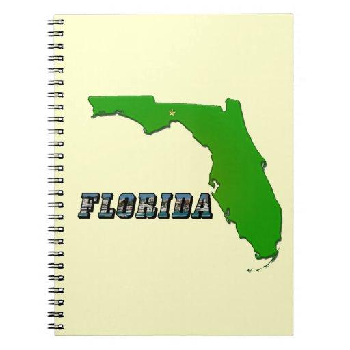 Mapa y texto del estado de la Florida Notebook