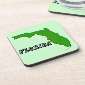 Mapa y texto del estado de la Florida Posavasos