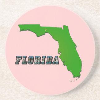 Mapa y texto del estado de la Florida Posavasos Manualidades