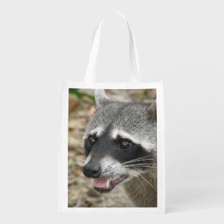 Mapache adorable bolsas de la compra