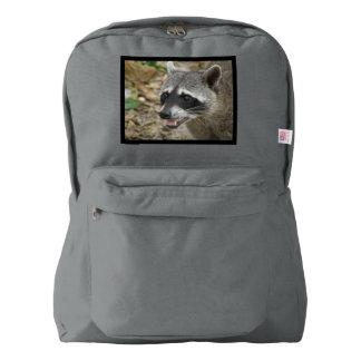 Mapache adorable mochila
