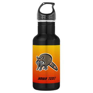 Mapache amarillo-naranja botella de agua de acero inoxidable