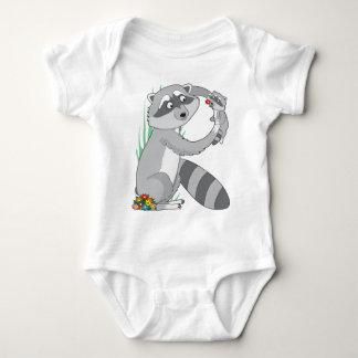 Mapache animal del alfabeto body para bebé