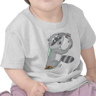 Mapache animal del alfabeto camisetas