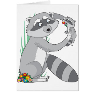 Mapache animal del alfabeto tarjeta de felicitación