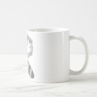 Mapache animal del alfabeto taza de café
