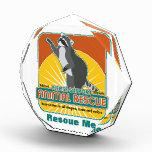 Mapache animal del rescate