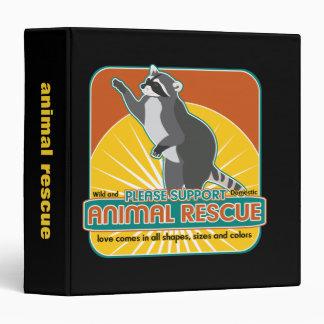 """Mapache animal del rescate carpeta 1 1/2"""""""