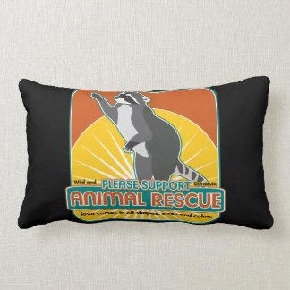 Mapache animal del rescate almohadas