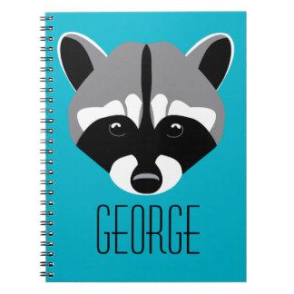 Mapache con los ojos tristes notebook