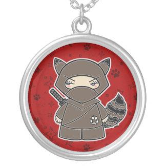 ¡Mapache de Ninja! Collar del rojo de Ninjadorable