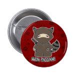 ¡Mapache de Ninja! En botón rojo Pin