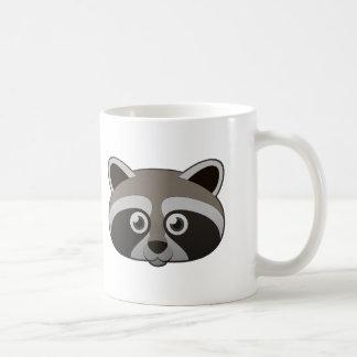 Mapache de papel taza de café