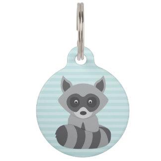 Mapache del bebé placa para mascotas