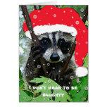 Mapache del navidad - tarjeta de felicitación