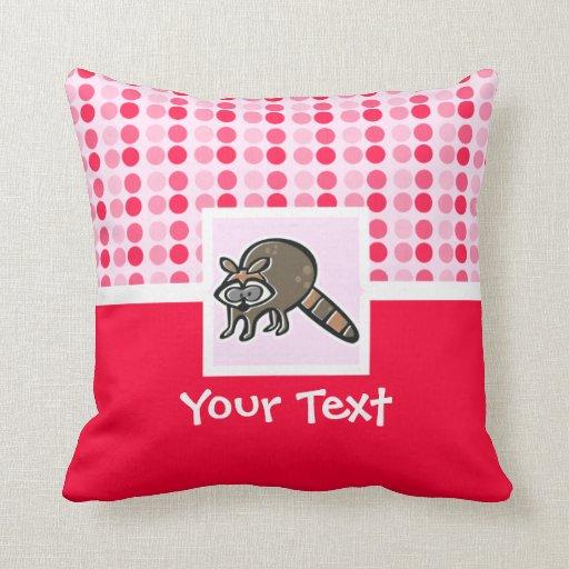 Mapache lindo almohadas