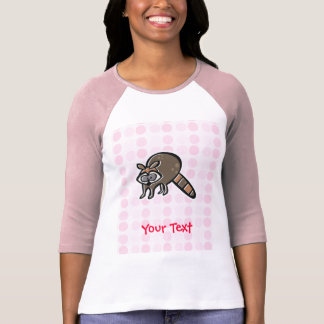 Mapache lindo camiseta