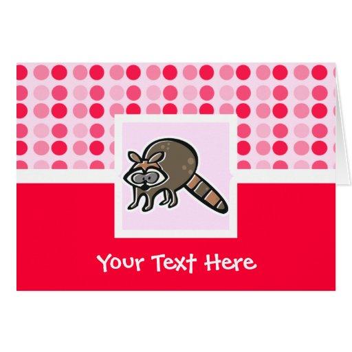 Mapache lindo tarjeta de felicitación